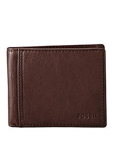 Fossil Ingram Leather Bifold With Flip ID Wallet
