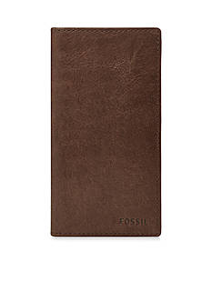 Fossil Ingram Leather Executive Checkbook Wallet