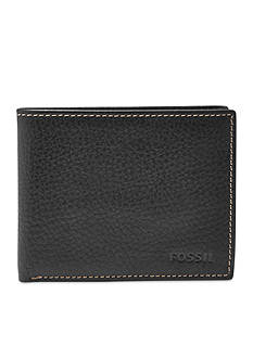Fossil Lincoln Leather Bifold With Flip ID Wallet