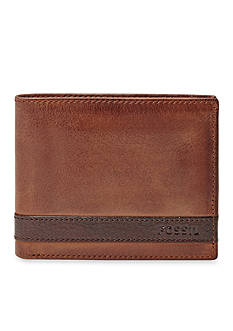 Fossil Quinn Leather Bifold With Flip ID Wallet