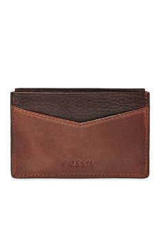 Fossil Quinn Leather Card Case Wallet