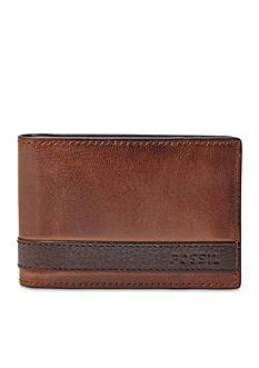 Fossil Quinn Leather Money Clip Bifold Wallet