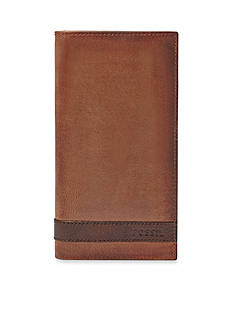 Fossil Quinn Leather Executive Checkbook Wallet