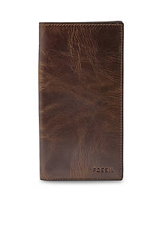 Fossil Derrick Leather Executive Checkbook Wallet