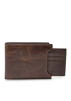 Fossil Derrick Leather 2 In 1 Bifold Wallet