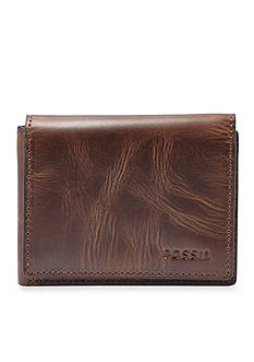 Fossil Derrick Leather Flip Trifold Wallet