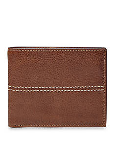 Fossil Turk Leather Bifold With Flip ID Wallet