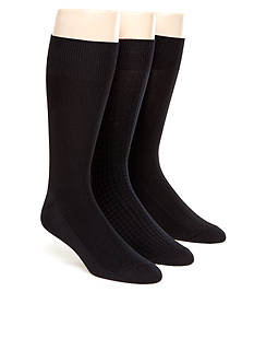 Calvin Klein 3-Pack Textured Microfiber Dress Socks