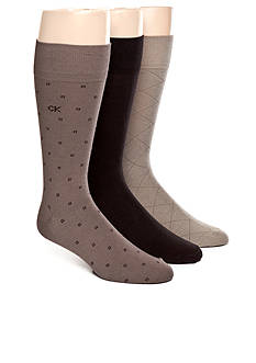 Calvin Klein 3-Pack Patterned Dress Socks