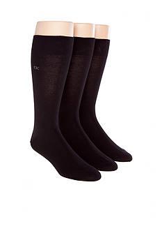 Calvin Klein 3-Pack Flat Knit Dress Socks