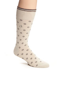 Calvin Klein Stripe Dot Print Crew Socks - Single Pair