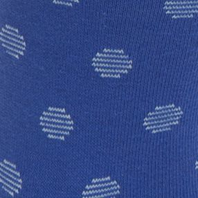 Designer Socks for Men: True Royal Calvin Klein Stripe Dot Print Crew Socks - Single Pair