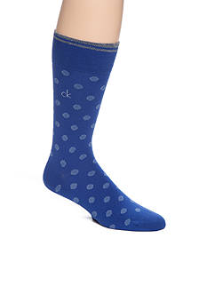 Calvin Klein Stripe Dot Print Crew Socks - Single Pair