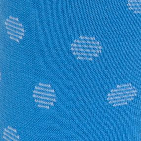 Designer Socks for Men: French Blue Calvin Klein Stripe Dot Print Crew Socks - Single Pair