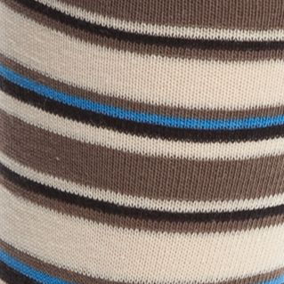 Designer Socks for Men: Wood Calvin Klein Logo Patch Stripe Crew Socks - Single Pair