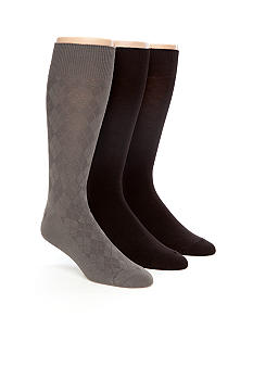 Calvin Klein 3-Pack Bamboo Textured Dress Socks
