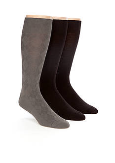Calvin Klein 3-Pack Textured Dress Socks