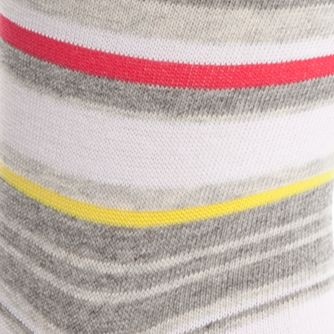 Designer Socks for Men: Steam Heather Calvin Klein Multi-Color Stripe Crew Socks - Single Pair