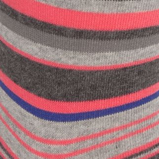 Designer Socks for Men: Punch Pink Calvin Klein Multi-Color Stripe Crew Socks - Single Pair