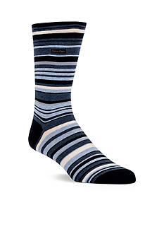 Calvin Klein Multi-Color Stripe Crew Socks - Single Pair
