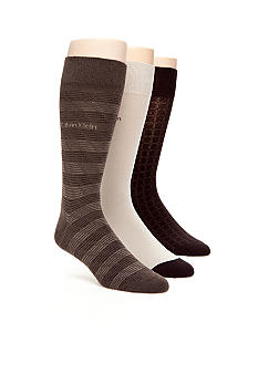 Calvin Klein 3-Pack Micro Design Dress Socks