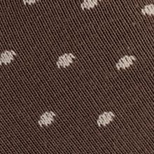 Designer Socks for Men: Brown Calvin Klein Giza Cotton Pin Dot Print Crew Socks - Single Pair