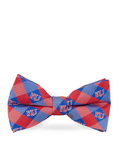 Eagles Wings Kansas Jayhawks Check Pre-tied Bow Tie
