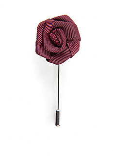 Madison Maroon Ribbon Flower Lapel Pin