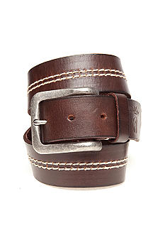 Red Camel Vint Contrast Stitch Belt