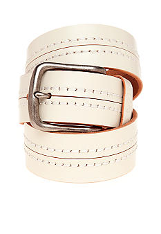 Red Camel Color Stitched Belt