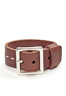 Red Camel Men's Buckled Leather Cuff