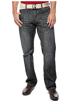 Red Camel Straight Leg Dark Wash Jeans