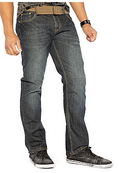 Red Camel Slim Straight Leg Belted Denim
