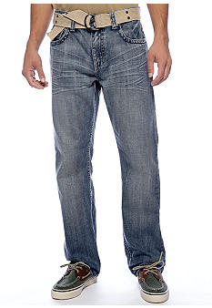 Red Camel Straight Leg Medium Wash Jeans