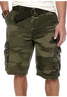 Red Camel Camo Cargo Shorts