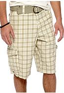 Red Camel® Kahaki Plaid Cargo Shorts