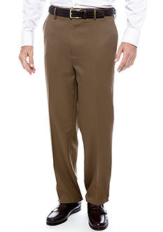 Saddlebred Straight Fit Flat Front Wrinkle Resistant Dress Pants