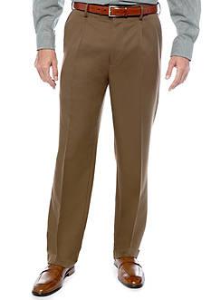 Saddlebred Big & Tall Straight Fit Pleated Wrinkle Resistant Dress Pants