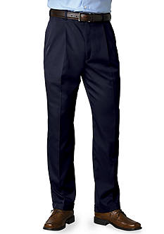 Saddlebred Big & Tall Straight Fit Pleated Wrinkle Resistant Dress Pants