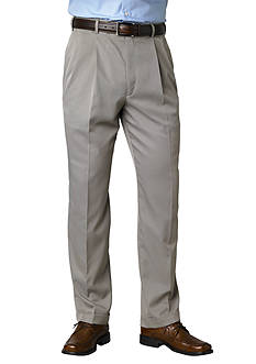 Saddlebred Straight-Fit Pleated Wrinkle-Resistant Dress Pants
