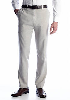 Saddlebred® Flat Front Straight Fit Houndstooth Dress Pants
