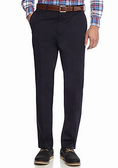 Saddlebred Straight Fit Flat Front Comfort Waist Pants
