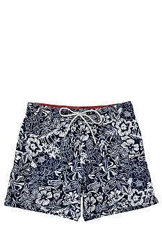 Caribbean Joe Novelty Print Fashion Swim Trunks