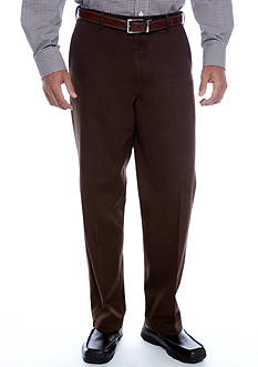 Saddlebred Straight Fit Flat Front Wrinkle Resistant Pants