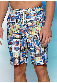 Red Camel Multi Color Digital Board Shorts