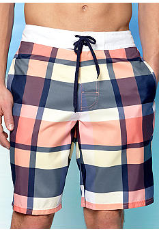 Red Camel® Plaid Outseam Swim Trunks