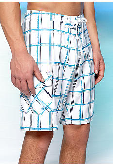 Red Camel Plaid Boardshorts