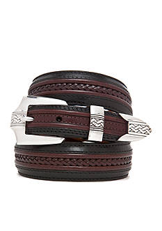 Brighton Leather Pinon Hills Inlay Lace Belt