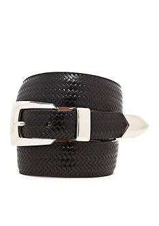 Brighton Avalon Leather Basketweave Belt