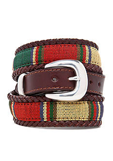 Brighton Santos Leather Fabric Taper Belt